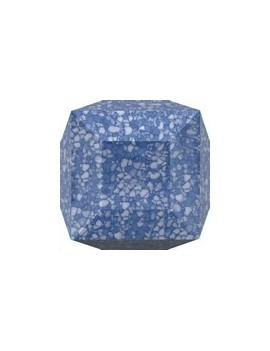 cube 6mm marble blue