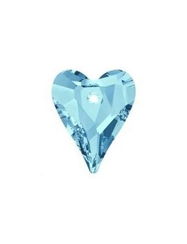 Pendentif wild heart 12mm aquamarine