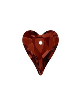 Pendentif wild heart 12mm crystal red magma