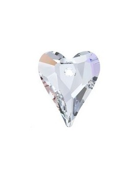 pendentif Wild heart 17mm crystal AB
