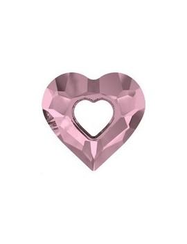 Pendentif designer edition miss U heart 26mm crystal antique pink