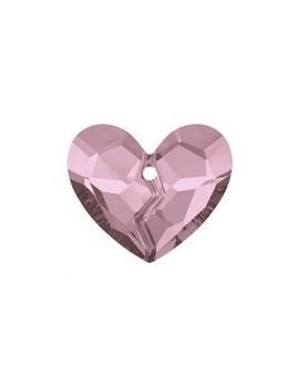 pendentif designer edition forever 1 heart 36mm crystal antique pink