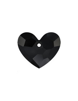 pendentif designer edition truly in love heart 18mm jet