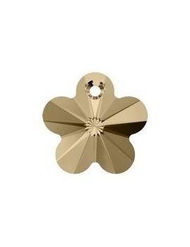 Pendentif fleur18mm Cr golden shad