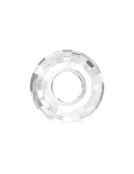 Pendentif disque 25mm crystal