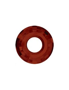 Pendentif disque 38mm red magma