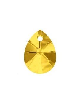 mini pear pendant 12mm light topaz