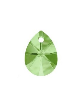 mini pear pendant 12mm peridot