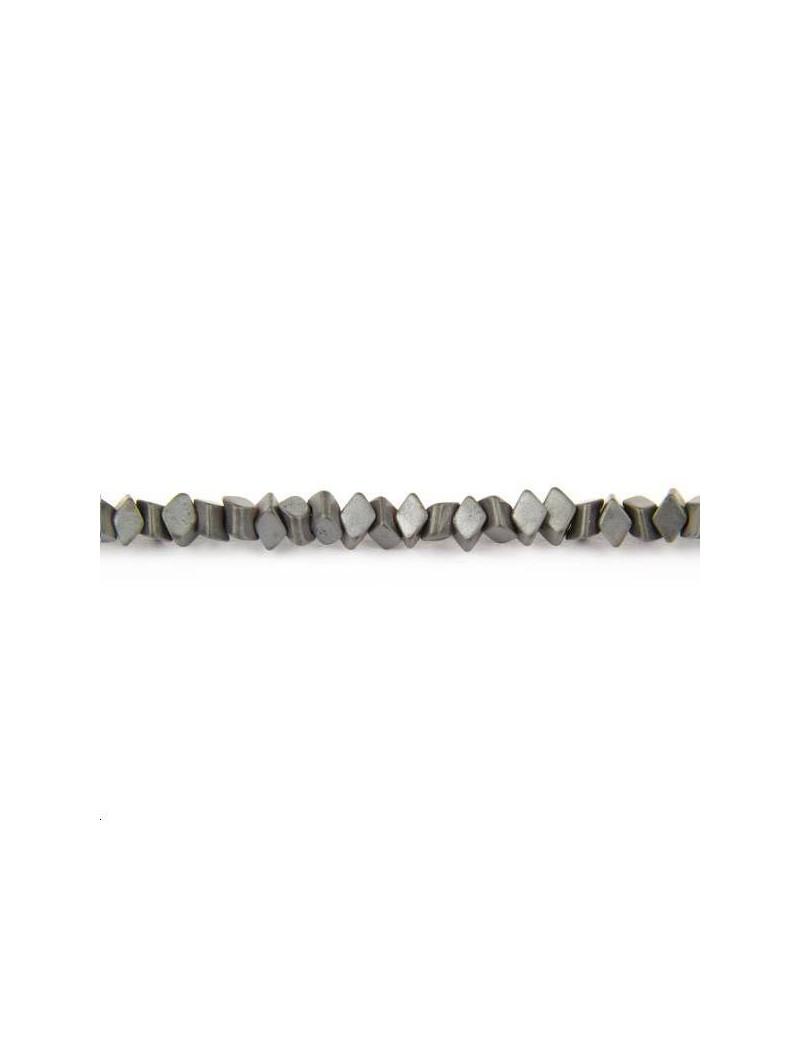 Hématite losange 3x1,5mm hématite lot de 13,3cm (environ 40 perles)