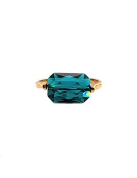 My precious kit Bague emerald est composé d'un corps de bague à picots 22mm doré à l'or fin 24 carats 1 micron à insérer sur une