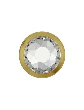 Framed flat back 4,8mm (SS20) thermocollant crystal / gold