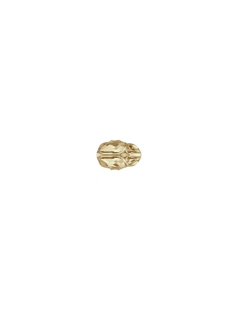 Scarab bead 12 mm Crystal golden shadow