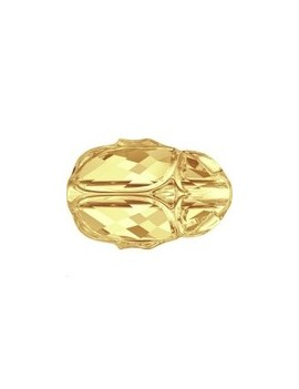 Scarab bead 12mm Crystal mettalic Sunshine