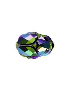 Scarab bead 12mm Crystal scarabaeus green