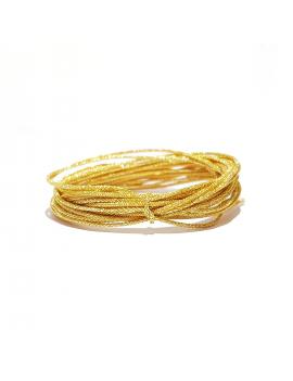 Cordon de soie souple 0.5mm doré vendu au mètre