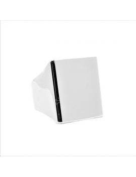 Bague chevalière plateau rectangle 18x20mm plaqué argent 10 microns