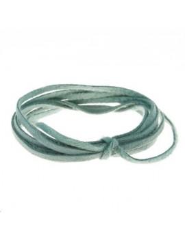 Suédine 2mm turquoise vendue au mètre