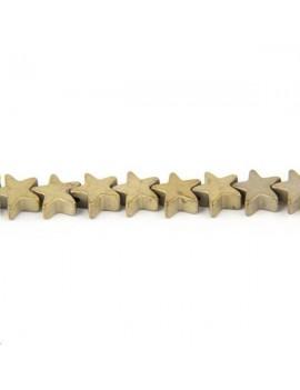Hématite étoile 6mm nickel lot de 10 pièces