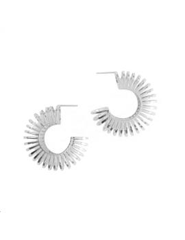Boucles d'oreilles ronde rayon ajou