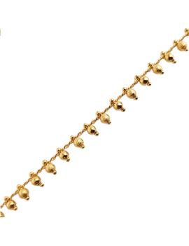 Chaîne pampille boule diamantée 3mm