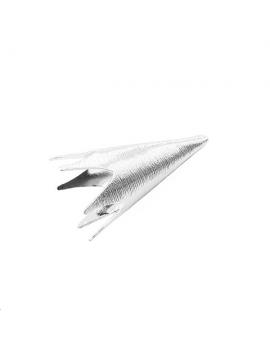 Coupelle cône strié 38x18mm plaqué