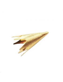 Coupelle cône strié 38x18mm doré