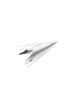 Coupelle cône strié 30x14mm plaqué