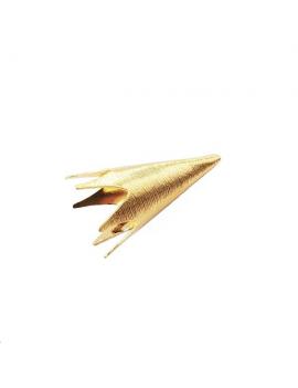Coupelle cône strié 30x14mm doré