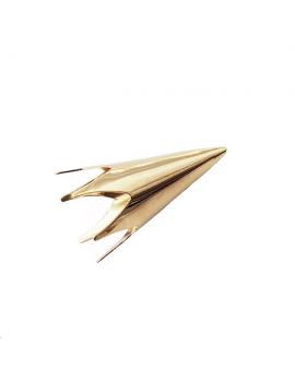 Coupelle cône lisse 39x20mm doré