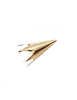 Coupelle cône lisse 30x16mm doré
