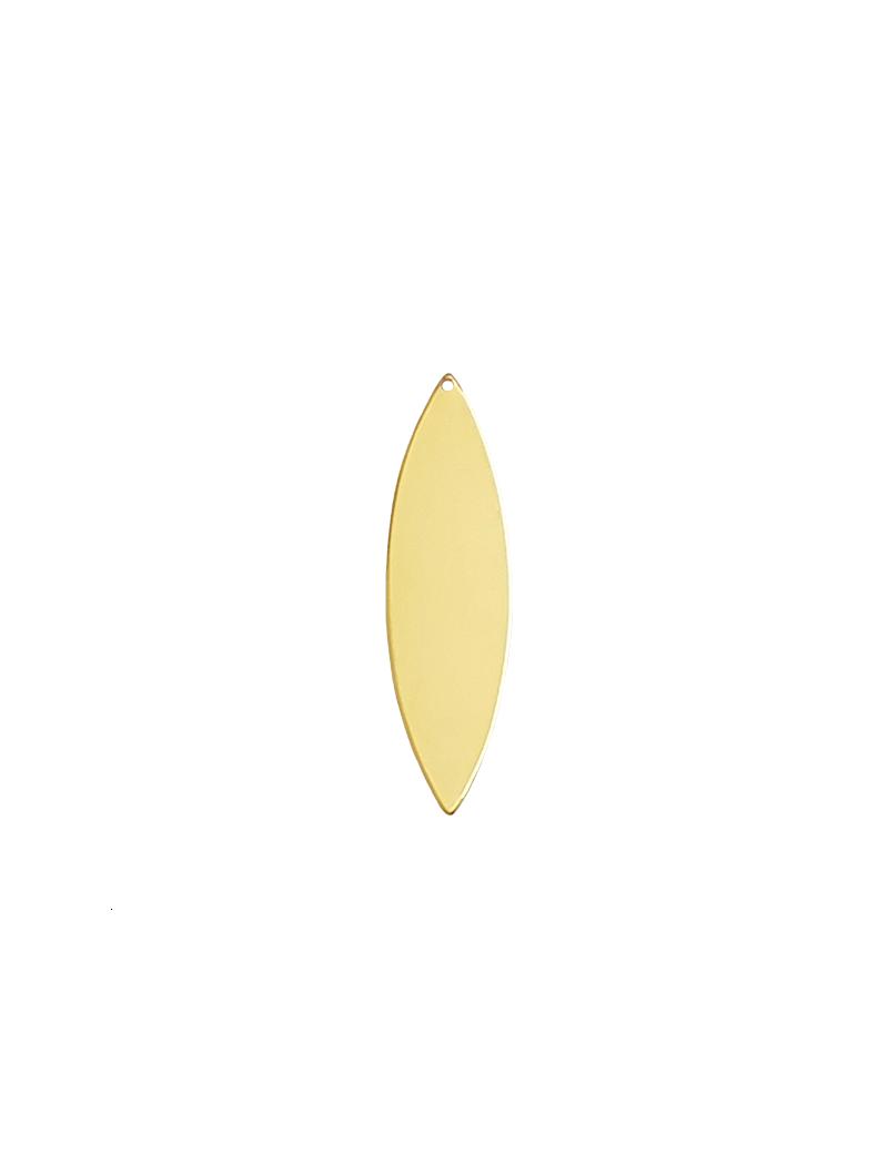 navette 1tr 50x14mm doré