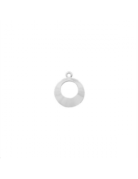 Pampille créoles avec anneau plaqué