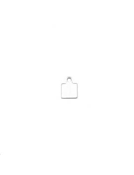 Pampille carrée avec anneau  plaqué