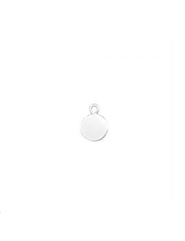 Pampille ronde 6mm avec anneau  pla