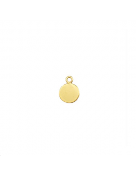 Pampille ronde 6mm avec anneau  dor