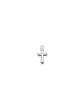 Pampille mini croix anneau 12x7mm