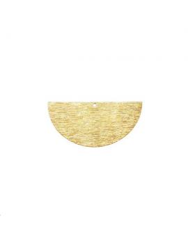 Pendentif demi cercle strié 30mm 1
