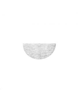 Pendentif demi cercle strié 20mm 1