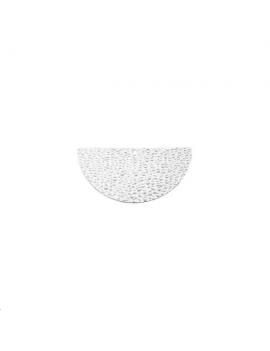 Pendentif demi cercle martelé 20mm