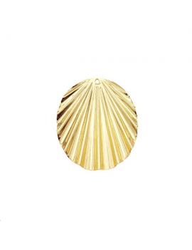 Pendentif oval ondulé 36x30mm 1 tro