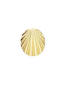 Pendentif oval ondulé 30x25mm 1 tro