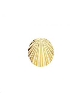 Pendentif oval ondulé 24x18mm 1 tro