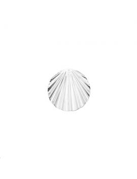 Pendentif disque ondulé 20mm 1 trou