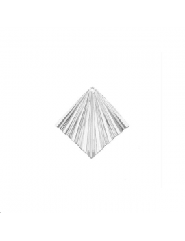 Pendentif losange ondulé 20mm 1 tro