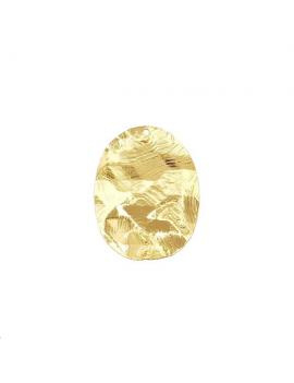 Pendentif oval roc 30x25mm 1 trou d