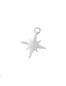 pendentif étoile du nord pl argent