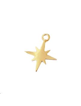 Pendentif étoile du nord doré