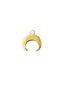 pendentif corne demi lune doré