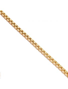 Chaine maille carrée 2mm doré