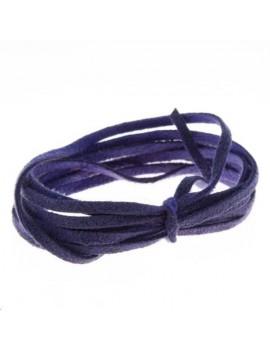 Suédine 2mm violet vendue au mètre